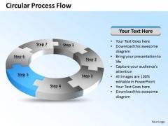 Ppt 7 Create PowerPoint Macro Circular Process Flow Diagram Free Templates