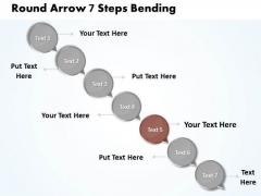 Ppt 7 State Diagram Descending Arrow Process Business PowerPoint Templates
