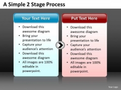 Ppt A Simple 2 Stage Process Editable Communication Skills Powerpoin Templates