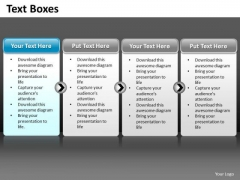 Ppt A Simple 4 Stage Process Editable Business Management PowerPoint Business Templates