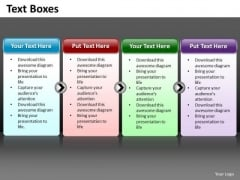 Ppt A Simple 4 Stage Process Editable Business Management PowerPoint Templates
