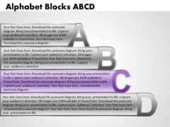Ppt Alphabet Blocks Abcd With Textboxes Business PowerPoint Templates