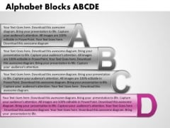 Ppt Alphabet Blocks Abcd With Textboxes Process PowerPoint Templates