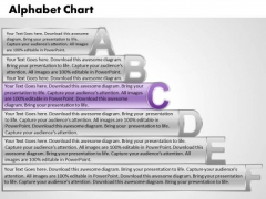 Ppt Alphabet Chart With Textboxes Business Plan PowerPoint Business Templates
