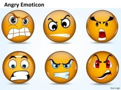 Ppt An Illustration Of Angry Emoticon Business Plan PowerPoint Business Templates