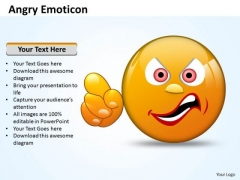 Ppt Angry Emoticon Pointing Accusing Finger PowerPoint Templates