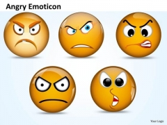 Ppt Angry Emoticon Pointing Accusing Finger PowerPoint Templates Slides