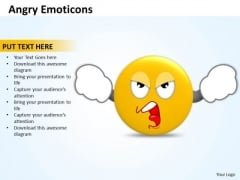 Ppt Angry Emoticons Illustration Picture Time Management PowerPoint Templates