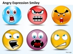Ppt Angry Expression Smiley Communication Skills PowerPoint Business Templates