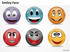 Ppt Animated Smiley Face Express Great Emotion Process PowerPoint Templates