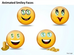 Ppt Animated Smiley With Happy Emotion Project Management PowerPoint Business Templates