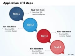 Ppt Application Of 4 Steps Working With Slide Numbers Involved Procedur PowerPoint Templates