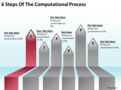 Ppt Arrow 6 Steps Of The Computational Process PowerPoint Slides