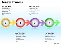 Ppt Arrow Communication Process PowerPoint Presentation 4 Stages Templates