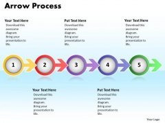 Ppt Arrow Communication Process PowerPoint Presentation 5 Stage Templates