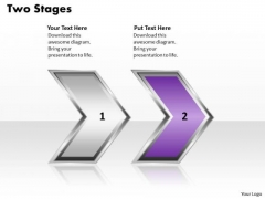 Ppt Arrow Description Of 2 Stages In Process PowerPoint Templates