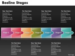 Ppt Arrow Forging Process PowerPoint Slides 7 Stage Templates