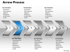 Ppt Arrow Pointing Curved Process 6 Phase Diagram PowerPoint Templates