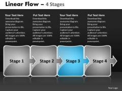 Ppt Arrow Progression Of Business Representation Video Workflow Diagram 4 Design