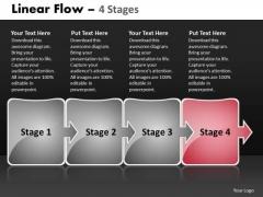 Ppt Arrow Progression Of Business Representation Video Workflow Diagram 5 Design