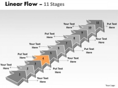 Ppt Background 11 Steps Straight Line Linear Arrows PowerPoint 2010 Process 5 Image