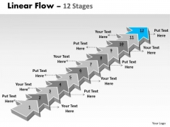 Ppt Background 12 Stages Linear 3d Arrows PowerPoint To Create Big Business Plan 13 Image