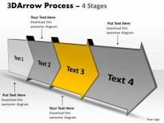 Ppt Background 3d 4 Power Point Stage View Download Arrow Progression Graphic