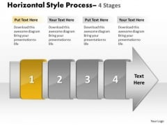 Ppt Background 4 Horizontal Steps Working With Slide Numbers Demonstration 2 Design