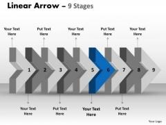 Ppt Background Beeline Flow Arrow Diagram Project Management PowerPoint 7 Design