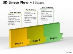 Ppt Background Continous Way To Show 3 Steps Workflow Operations Management PowerPoint 1 Image