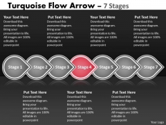 Ppt Background Continual Seven Stages Linear Flow Communication Skills PowerPoint 5 Image