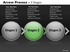 Ppt Background Evolution Of Three Stages Circular Arrows PowerPoint 2007 3 Graphic
