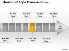 Ppt Background Linear Demonstration Of 8 Steps Procedure Sales Plan PowerPoint 6 Design