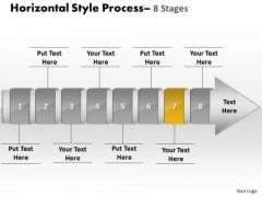 Ppt Background Linear Demonstration Of 8 Steps Working With Slide Numbers Procedure Image