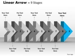 Ppt Beeline Flow Arrow Diagram PowerPoint Free Corporation Plan 10 Design