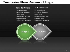 Ppt Beeline Two Stages Arrow Diagram Comment Faire Une Presentation PowerPoint 2 Design