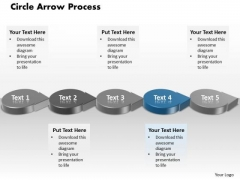 Ppt Blue Circle Arrow Process Flow Ishikawa Diagram PowerPoint Template Templates