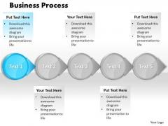 Ppt Blue Circular Arrow Business PowerPoint Presentation Process Flow Templates