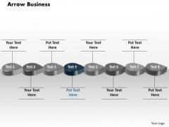 Ppt Blue Circular Arrow Business Transactions Diagram PowerPoint Slide Text Templates