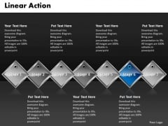 Ppt Blue Diamond Linear Action 7 Phase Diagram PowerPoint Templates