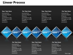 Ppt Blue Diamond Linear Communication Process PowerPoint Presentation 7 Stages Templates