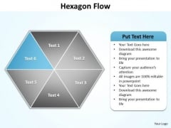 Ppt Blue Factor Hexagon Angles Spider Diagram PowerPoint Template Editable Templates