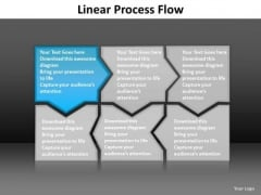 Ppt Blue Piece Connected In Linear Forging Process PowerPoint Slides Flow Templates