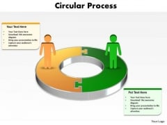 Ppt Busines Men Silhouettes Standing On 3d Circular PowerPoint Templates