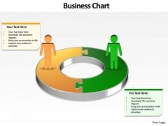 Ppt Busines Men Silhouettes Standing On Circular Chart PowerPoint Templates