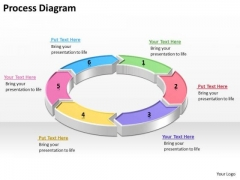 Ppt Business Process Cyclic Diagram PowerPoint Template With 6 Steps Editable Templates