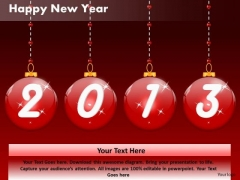 Ppt Cards And Dices Happy New Year Business Plan Celebrations PowerPoint Templates
