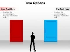 Ppt Choosing Between 2 Options Editable PowerPoint Templates