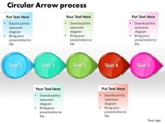 Ppt Circle Arrow Free Business Presentation Process Flow Chart PowerPoint Templates