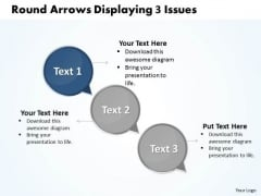 Ppt Circle Curved Arrows PowerPoint 2010 Showing 3 Issues Templates